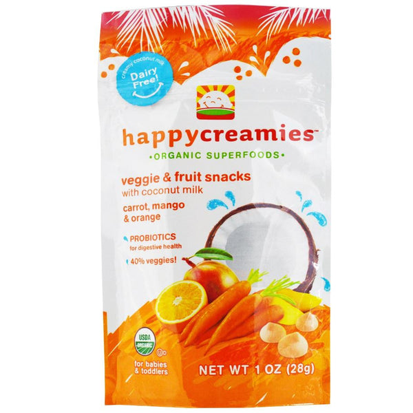 Happy Family Happy Baby Coconut Creamies - Carrot, Mango & Orange, 28 g.