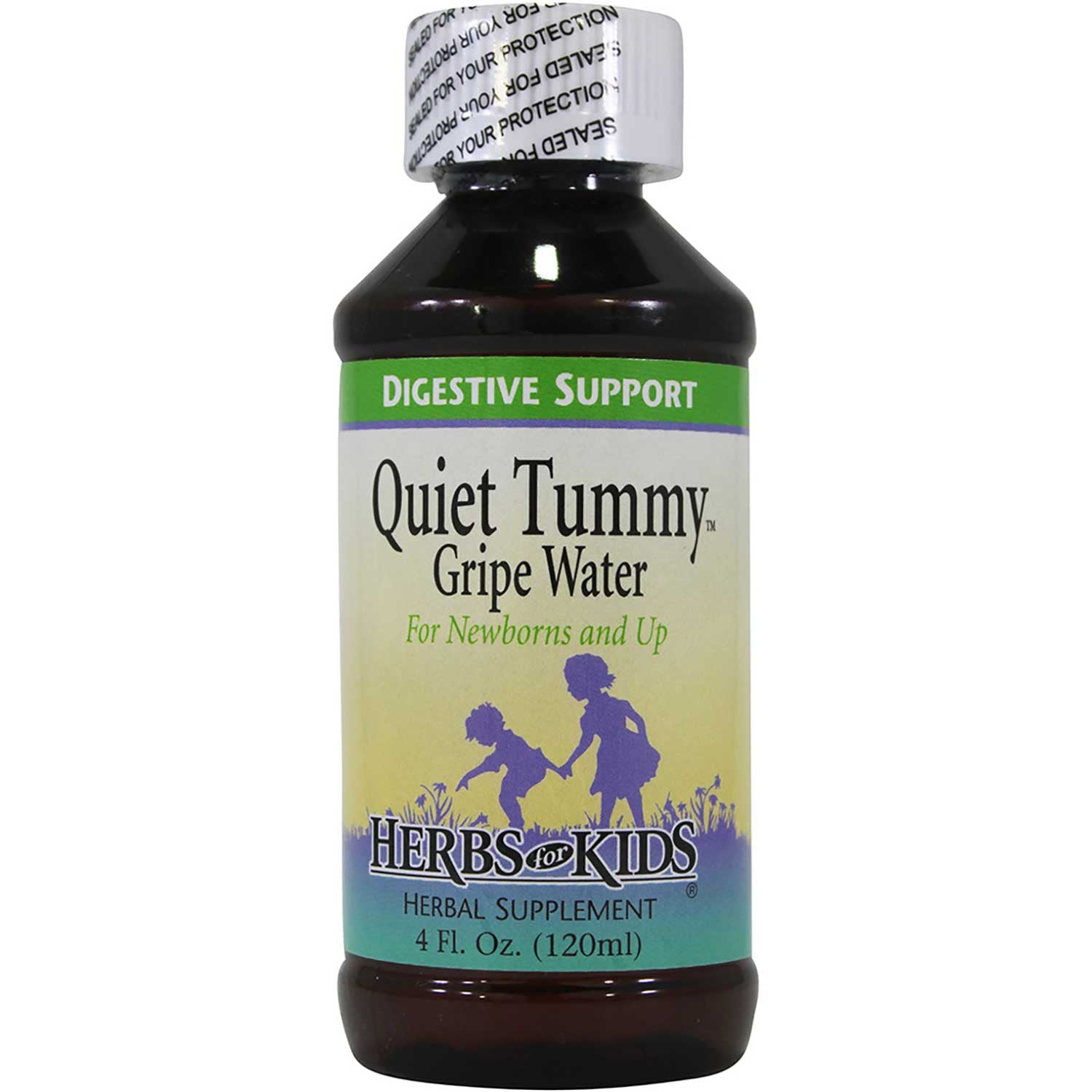 Herbs for Kids Quiet Tummy Gripe Water, 120 ml.-NaturesWisdom