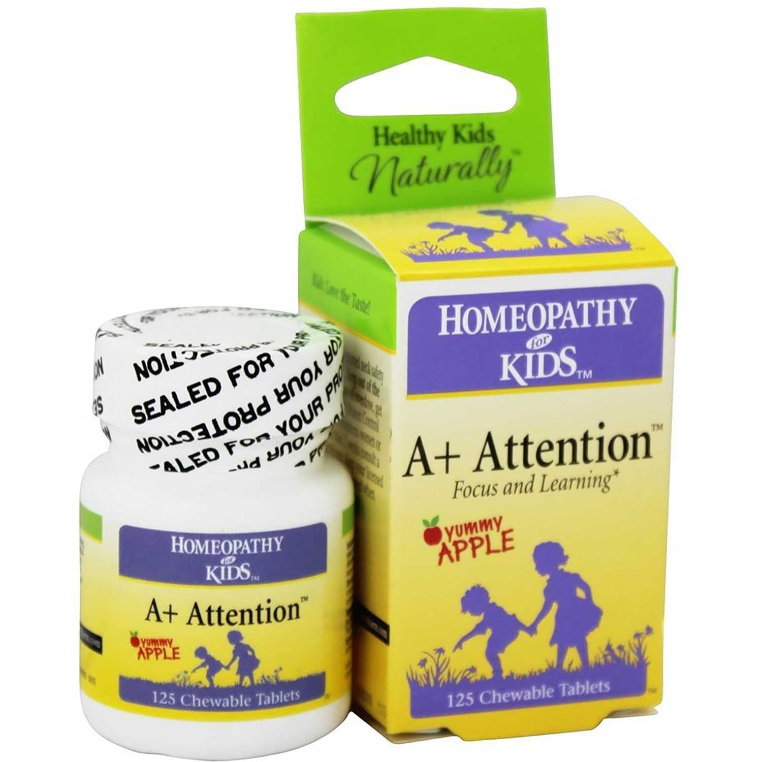 Homeopathy for Kids A+ Attention,125 tabs.-NaturesWisdom