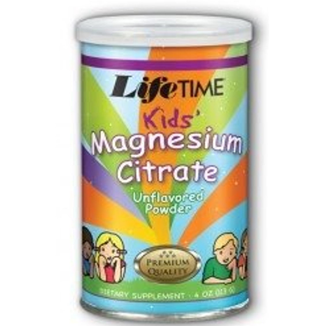 Lifetime Kids' Magnesium Citrate - Unflavoured powder, 113g.