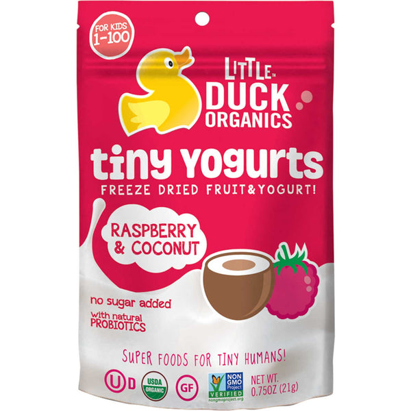 Little Duck Organics Tiny Yogurts - Raspberry & Coconut, 21g.