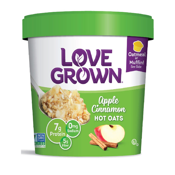 Love Grown Apple Cinnamon Hot Oats, 63g