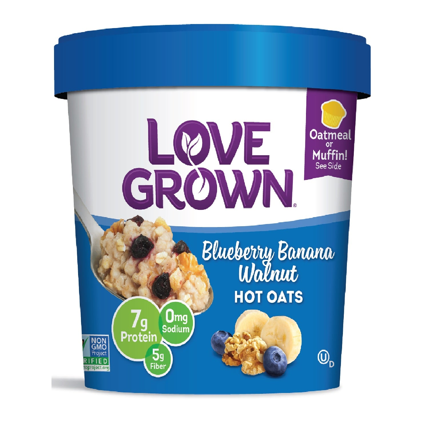Love Grown Blueberry Banana Walnut Hot Oats, 63g