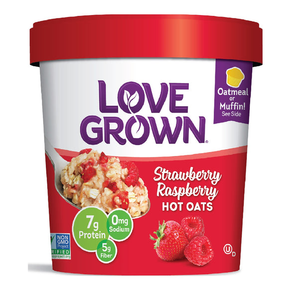 Love Grown Strawberry Raspberry Hot Oats, 63g
