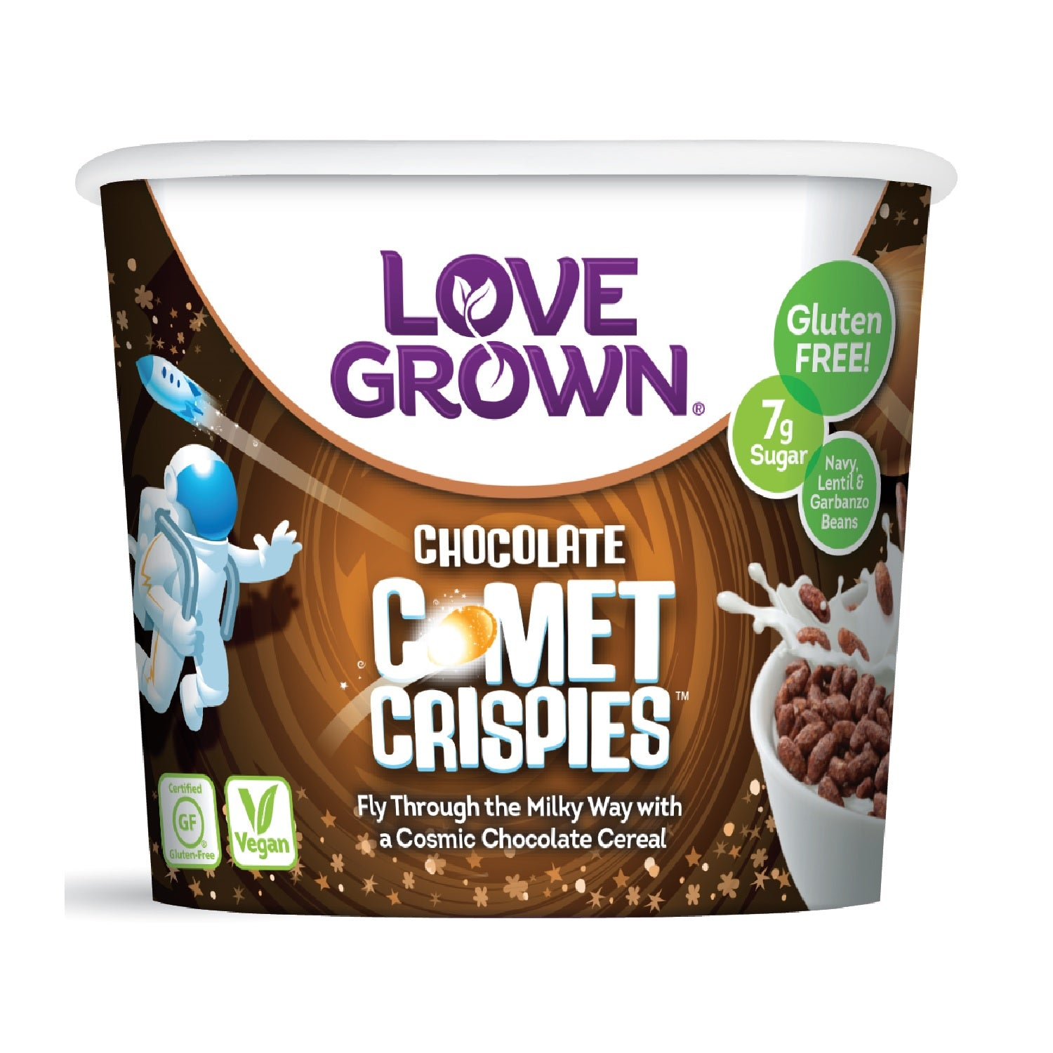 Love Grown Comet Crispies Cup- Chocolate Flavour, 32g