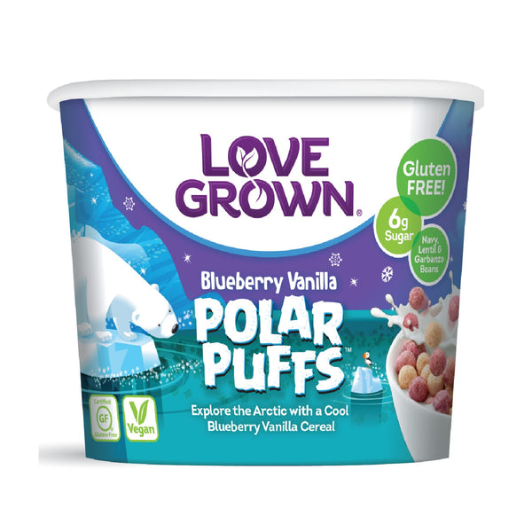 Love Grown Polar Puffs Cup- Blueberry Vanilla Flavour, 32g