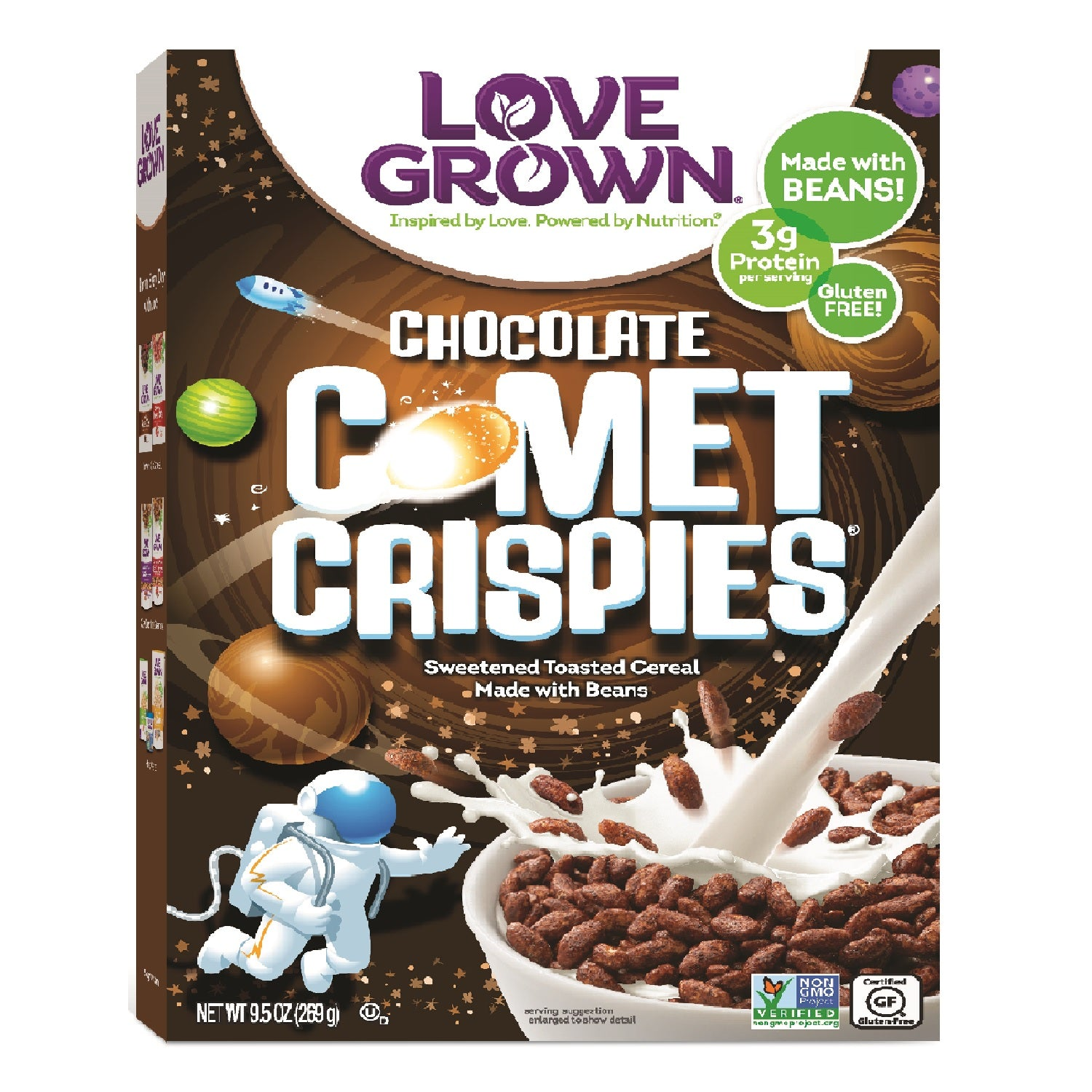 Love Grown Comet Crispies- Chocolate Flavour, 269g