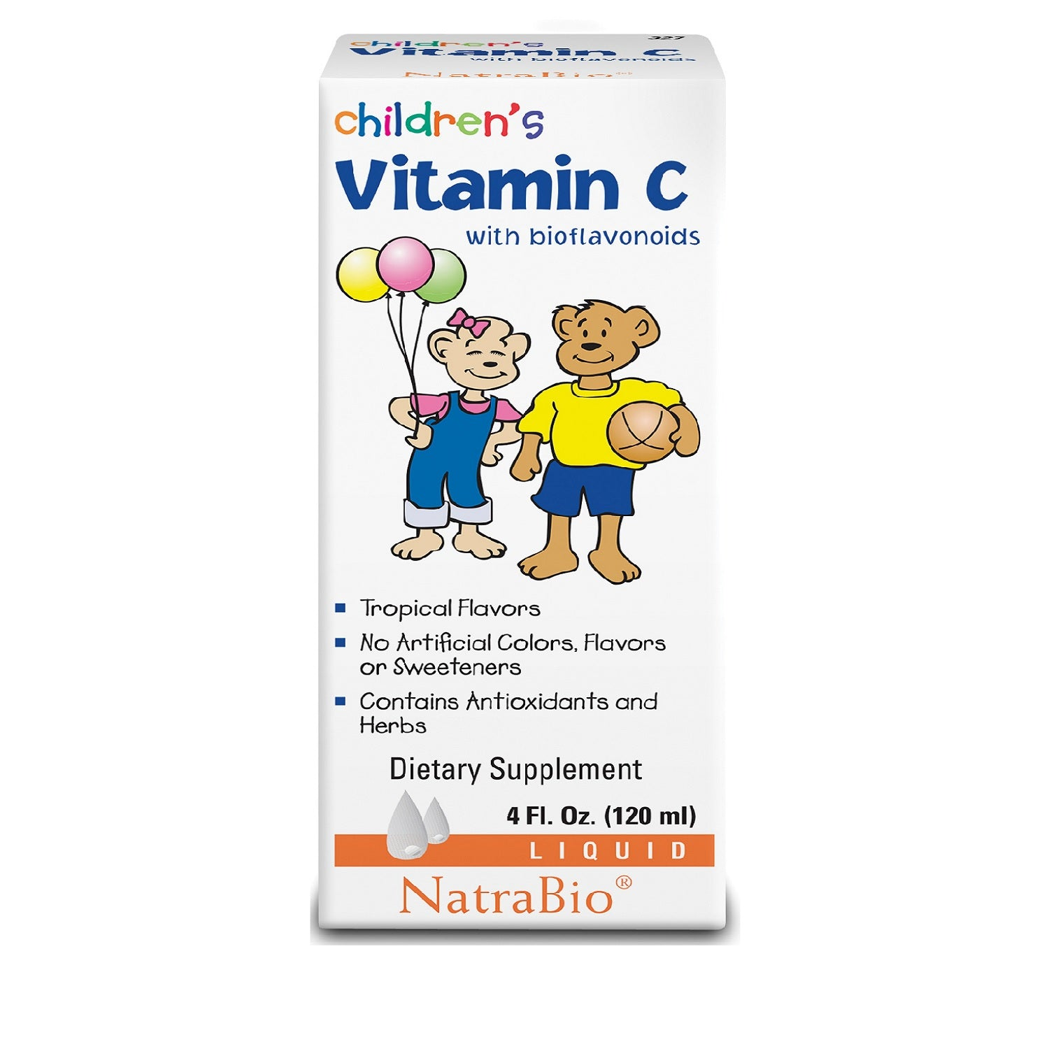 Natra-Bio Children's Liquid Vitamin C, 120 ml