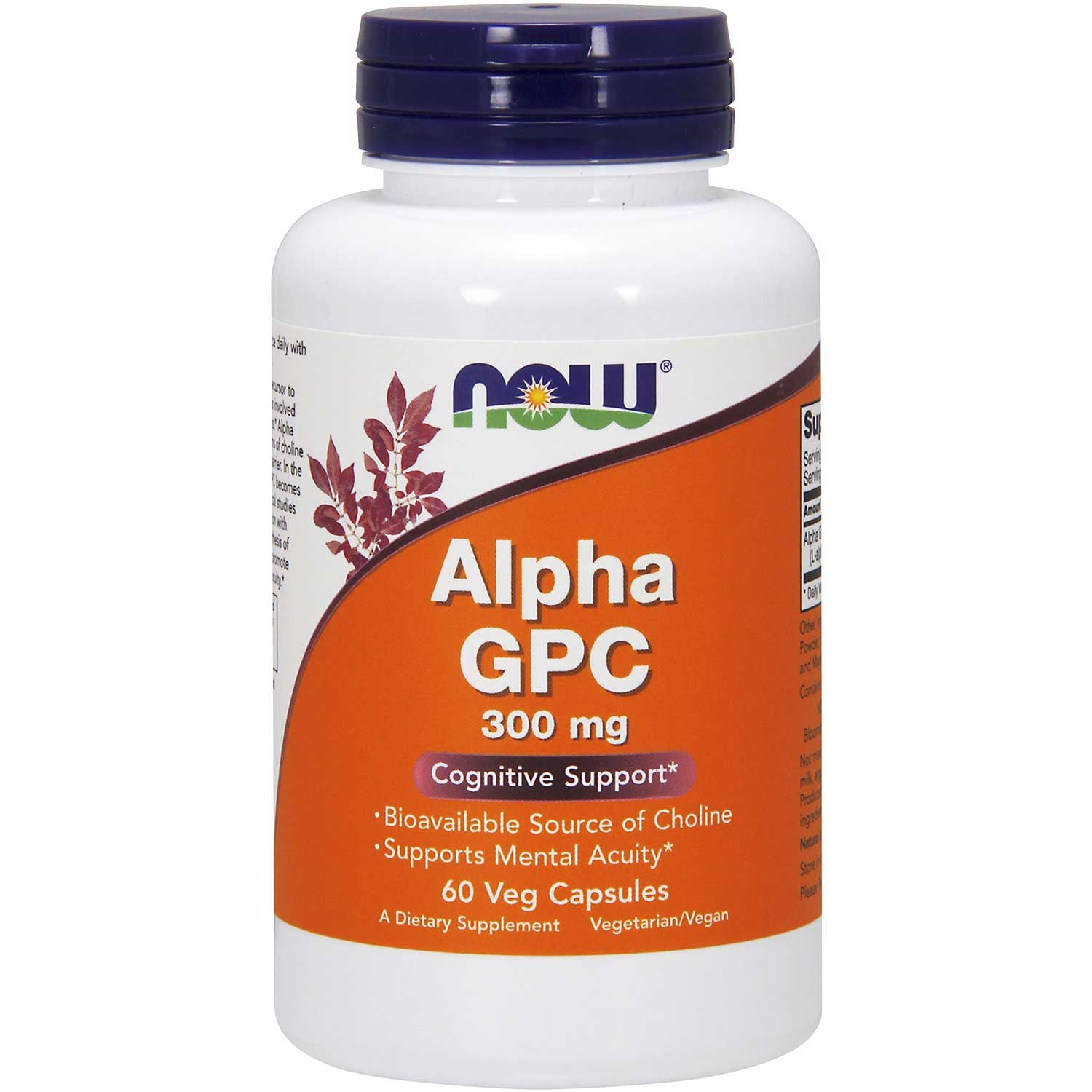 NOW Alpha GPC 300 mg, 60 Vcaps.-NaturesWisdom