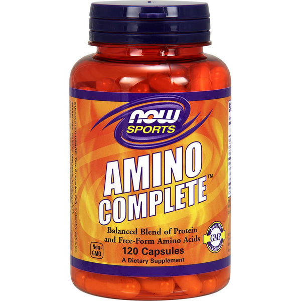 NOW Amino Complete Balanced Blends of Amino Acids, 120 caps.