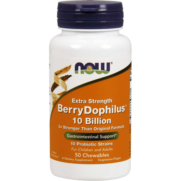 NOW BerryDophilus Extra Strength (Chewables), 50 tabs. (PROBIOTIC NOT TO BE PUT ONLINE)