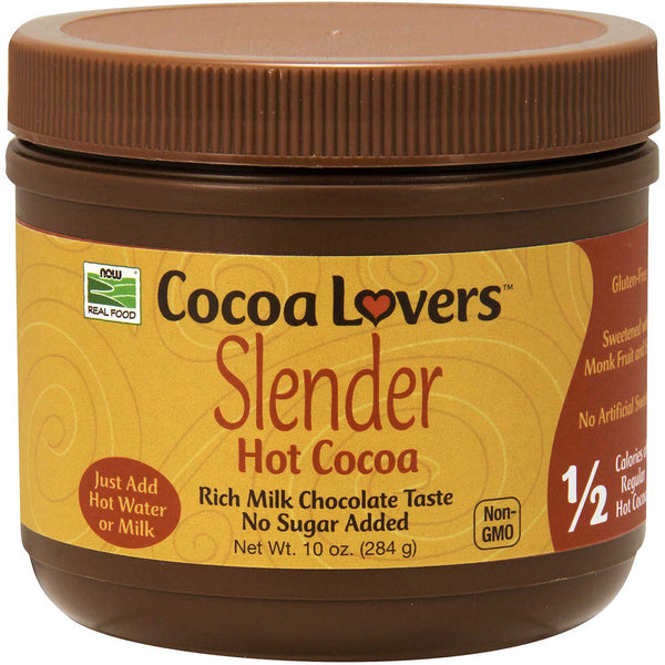NOW Better Stevia Hot Cocoa (No Sugar Added), 284 g.