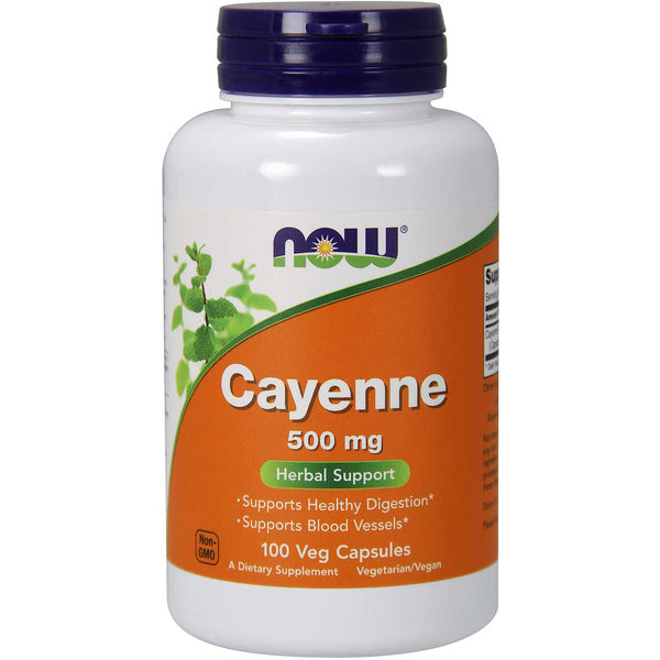 NOW Cayenne 500 mg, 100 caps.