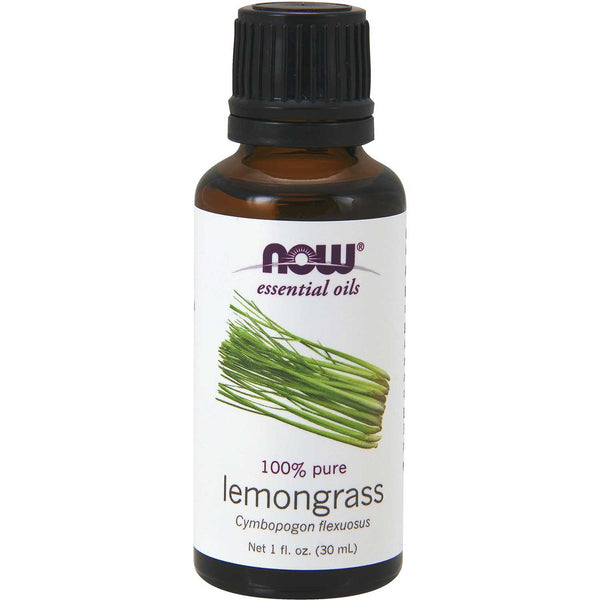 NOW Essential Oil - 100% Pure Lemongrass, 30 ml.