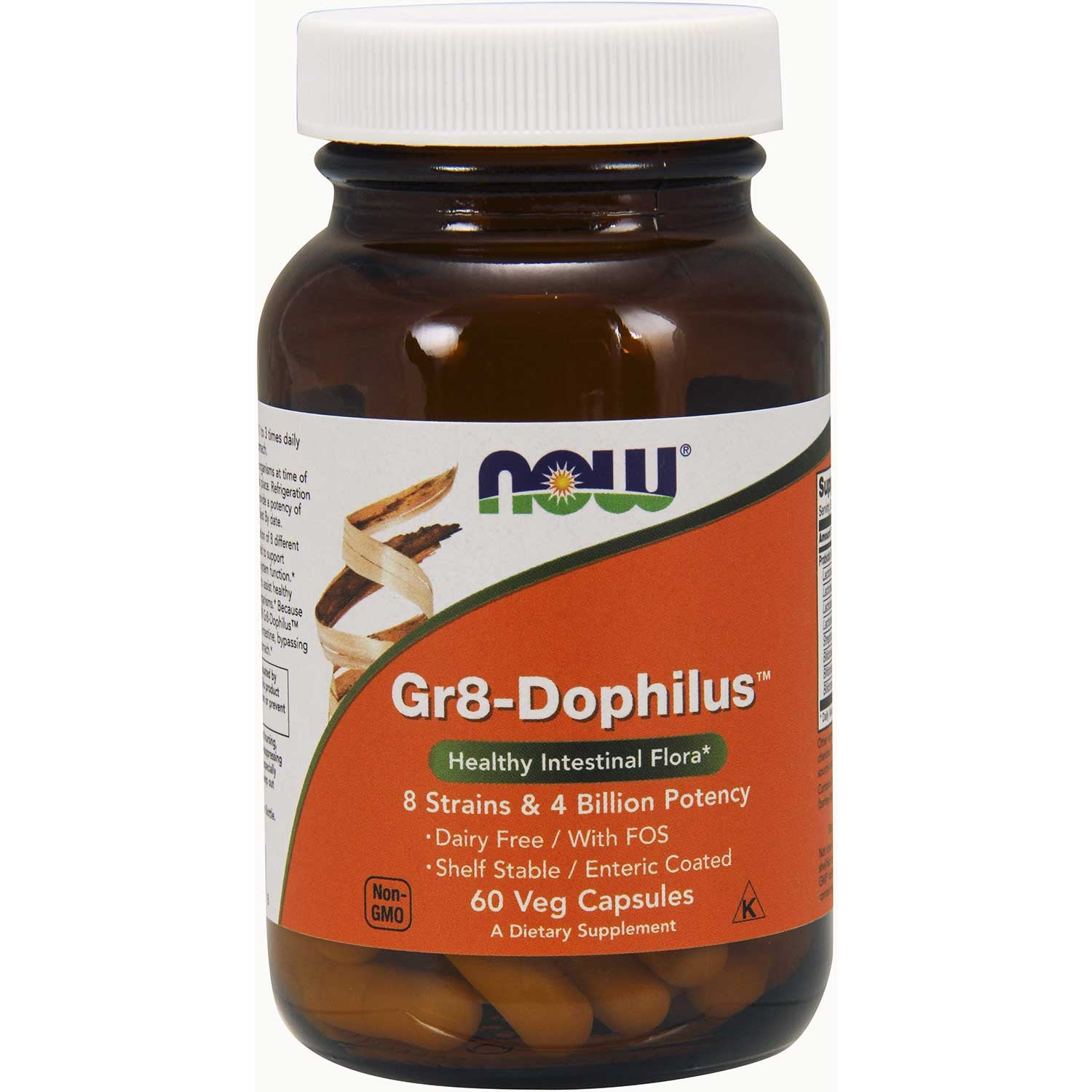 NOW Gr8-Dophilus, 60 Vcaps.-NaturesWisdom