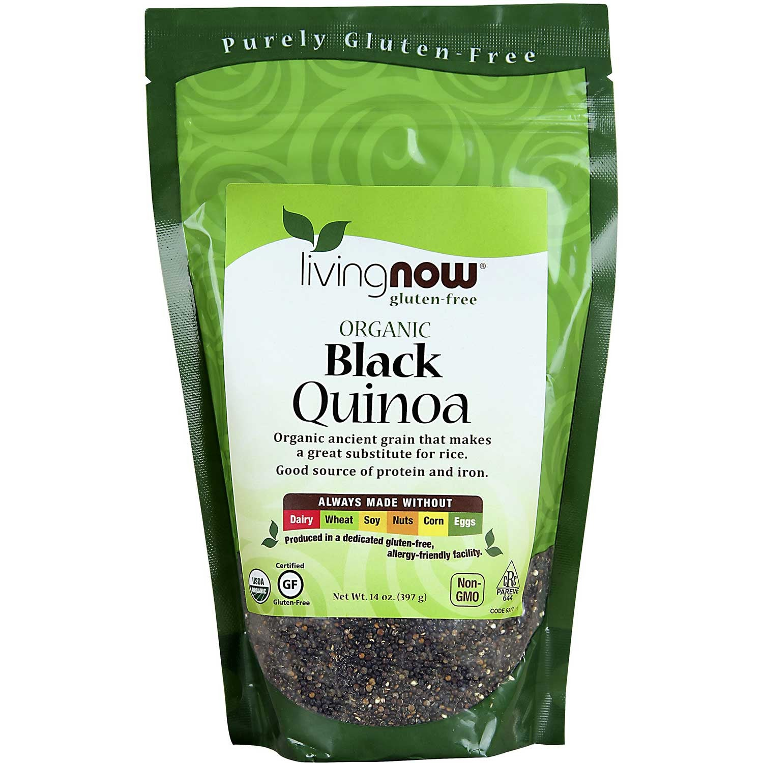 NOW Living NOW Organic Quinoa Grain - Black, 397g.