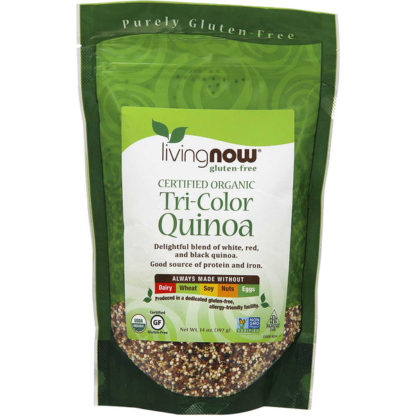 NOW Living NOW Organic Quinoa Grain - Tri-color, 397g.