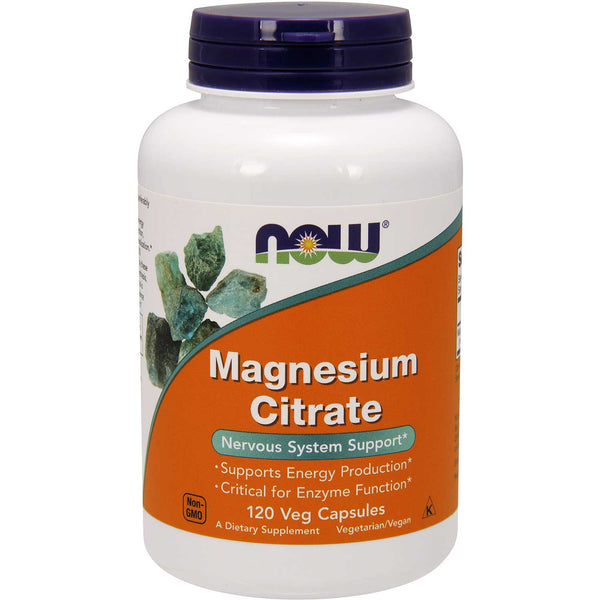 NOW Magnesium Citrate, 120 Vcaps.