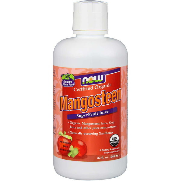 NOW Mangosteen Superfruit Antioxidant Juice (Organic), 946 ml.