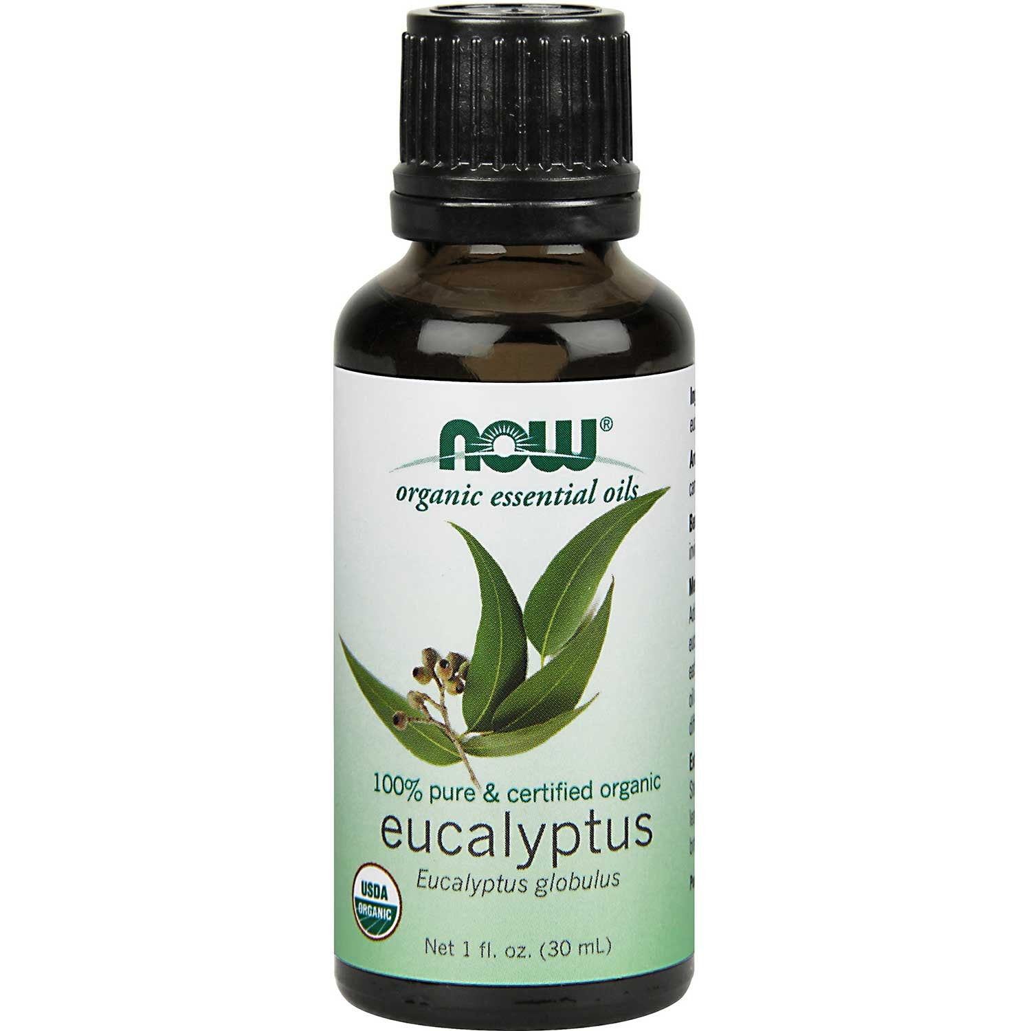 NOW Organic Essential Oil - Eucalyptus, 30 ml.-NaturesWisdom
