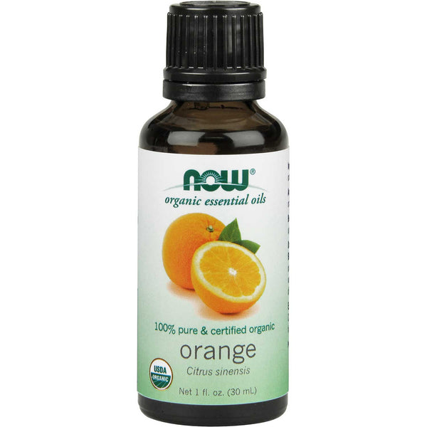 NOW Organic Essential Oil - Orange, 30 ml.