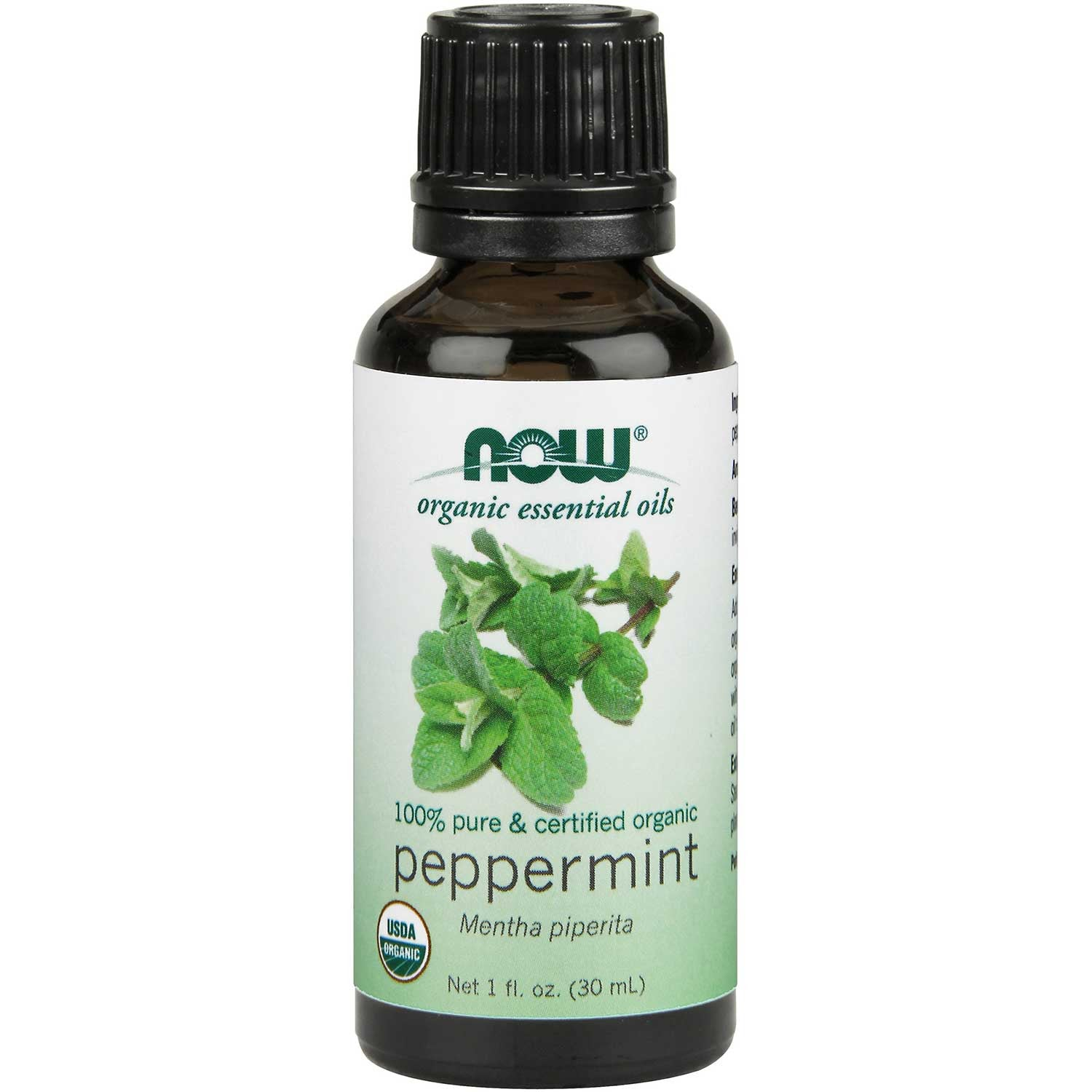 NOW Organic Essential Oil - Peppermint, 30 ml.-NaturesWisdom