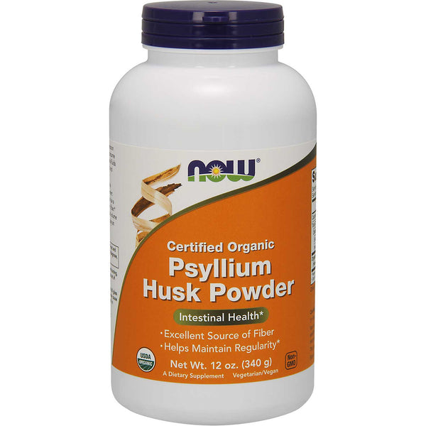 NOW Psyllium Husk Powder - Organic, 340 g.