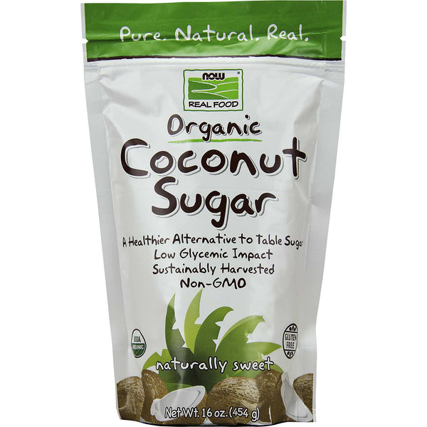 NOW Real Food Organic Coconut Sugar, 454g.