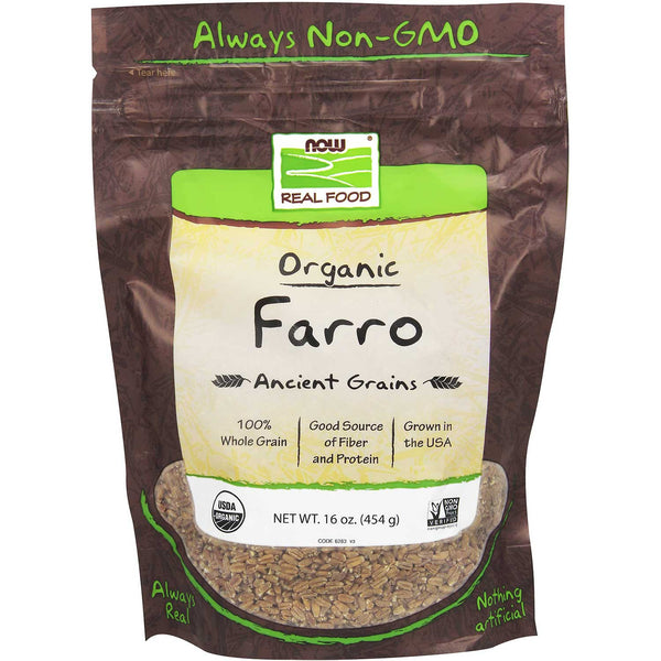 NOW Real Food Organic Farro, 454g.