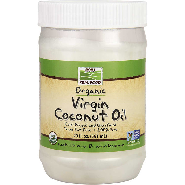 NOW Real Food Organic Virgin Coconut Oil, 591 ml.
