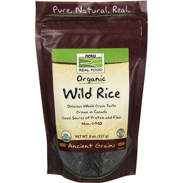 NOW Real Food Organic Wild Rice, 227g.