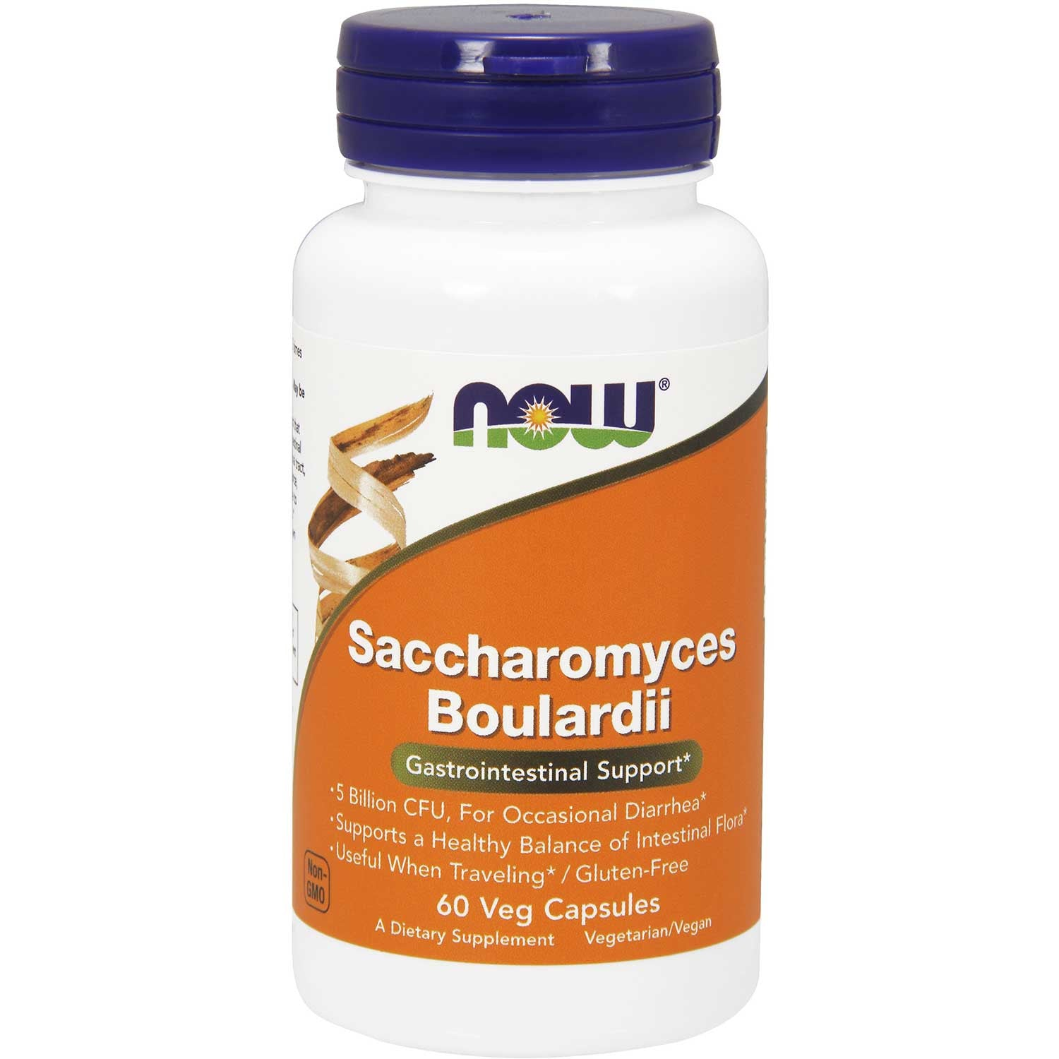 NOW Saccharomyces Boulardii, 60 Vcaps.-NaturesWisdom