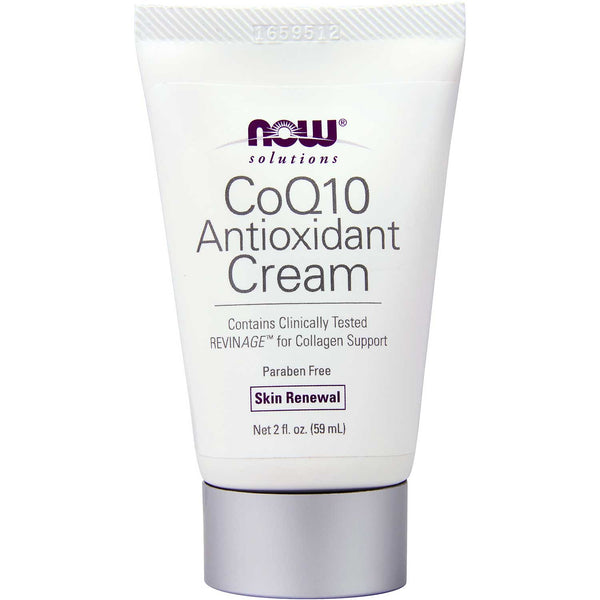 NOW Solutions CoQ10 Antioxidant Cream, 59 ml.