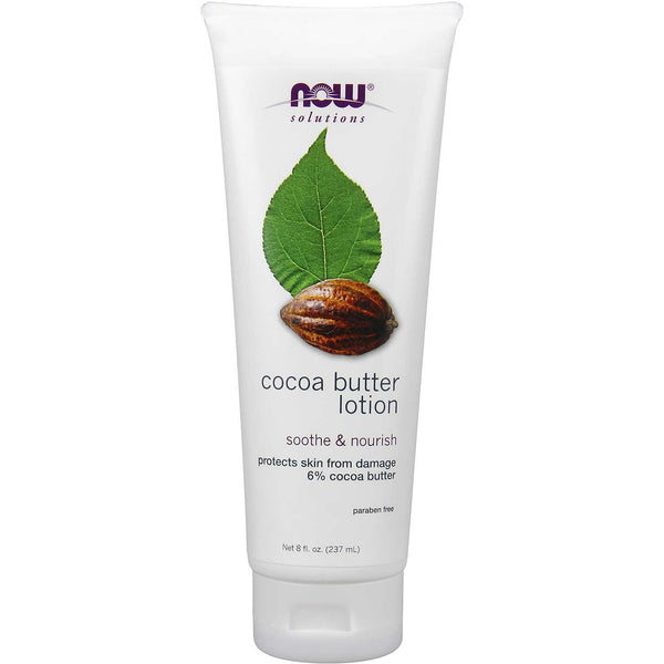 NOW Solutions Cocoa Butter Lotion, 237 ml.