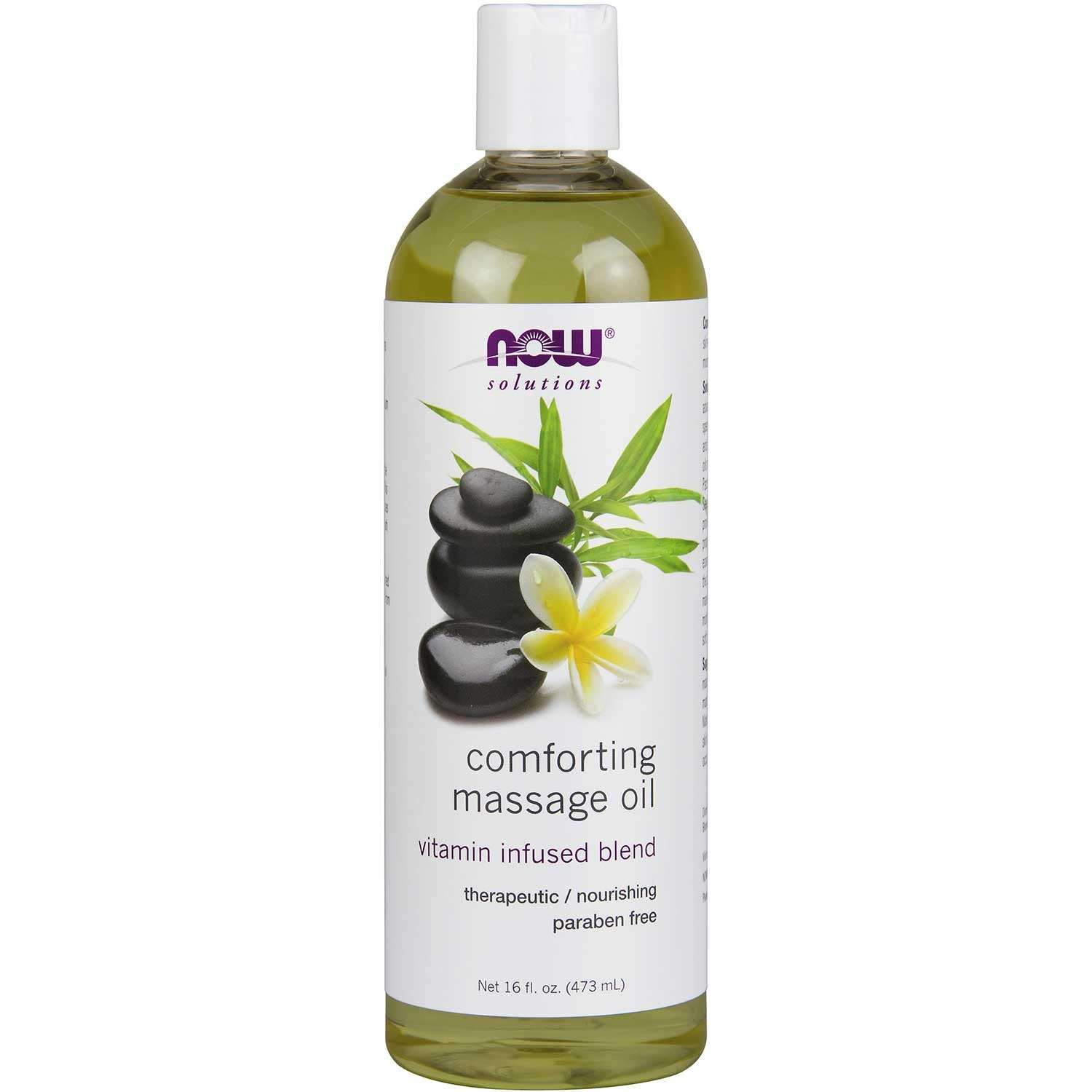 NOW Solutions Comforting Masasge Oil, 473 ml.-NaturesWisdom