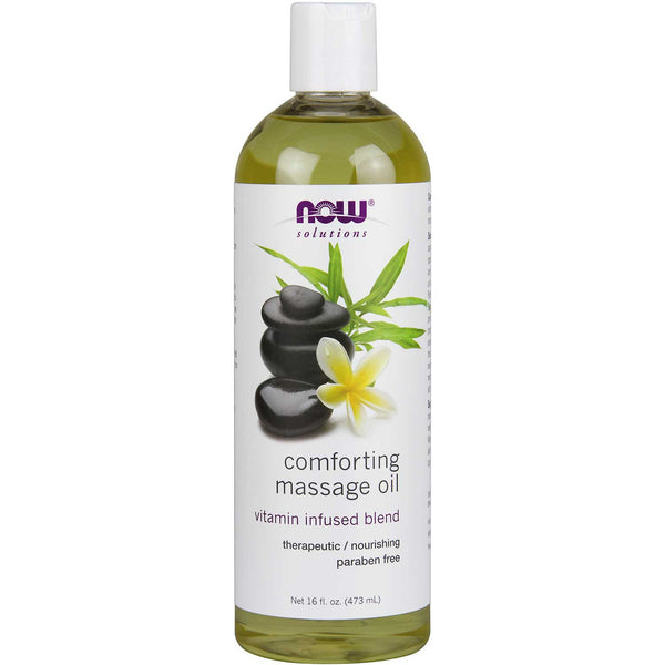 NOW Solutions Comforting Masasge Oil, 473 ml.