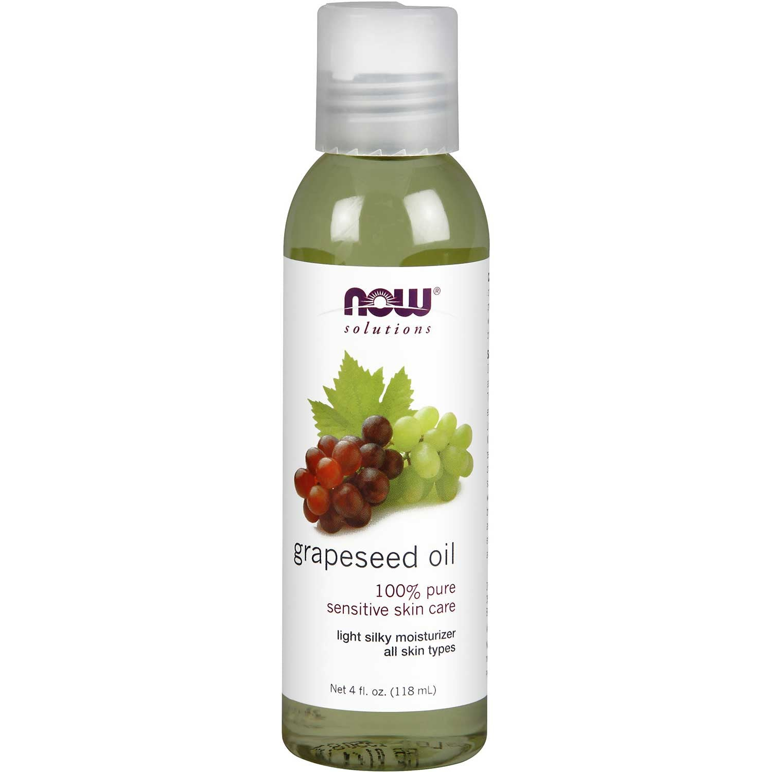 NOW Solutions Grape Seed Oil (Food Grade), 118 ml.-NaturesWisdom