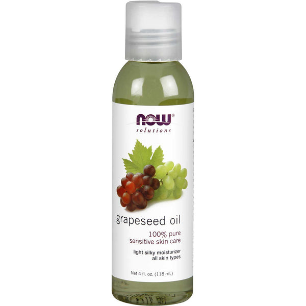 NOW Solutions Grape Seed Oil (Food Grade), 118 ml.