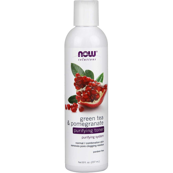 NOW Solutions Green Tea & Pomegranate Purifying Toner, 237 ml.