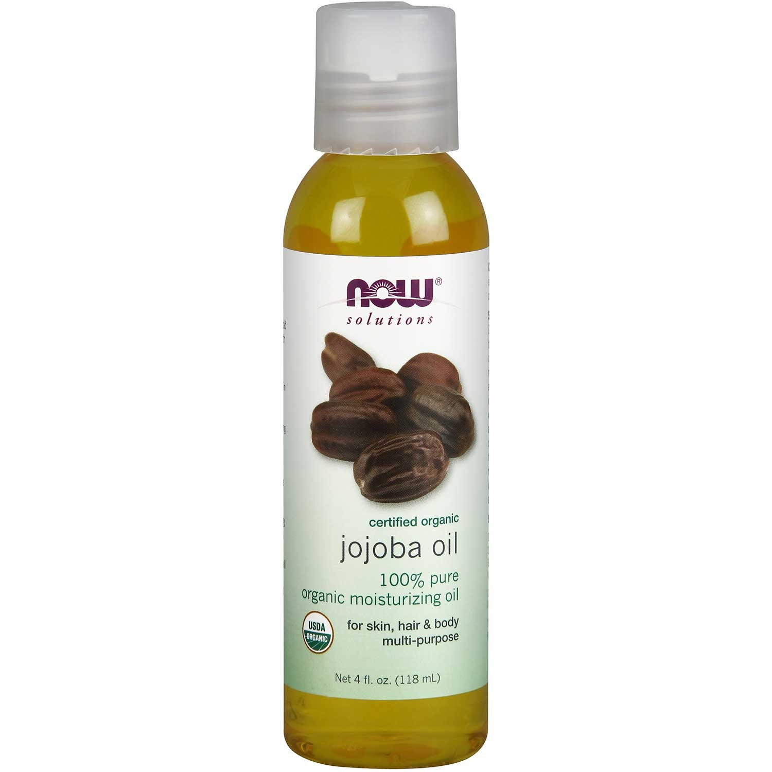 NOW Solutions Jojoba Oil (Organic), 118 ml.-NaturesWisdom