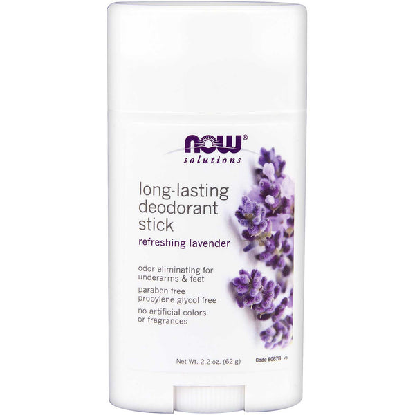 NOW Solutions Long Lasting Deodorant Stick - Lavender, 62 g.