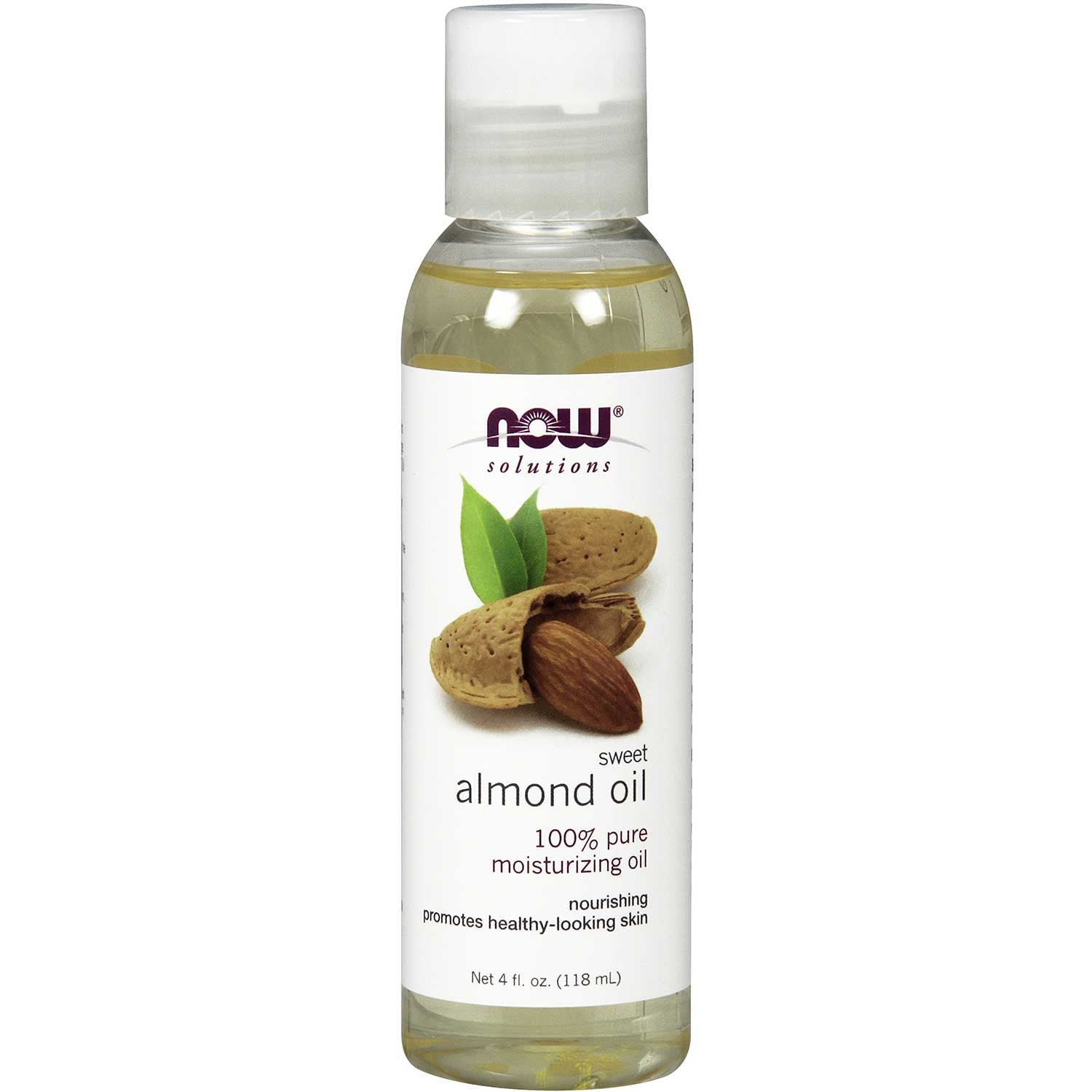NOW Solutions Sweet Almond Oil (Food Grade), 118 ml.-NaturesWisdom