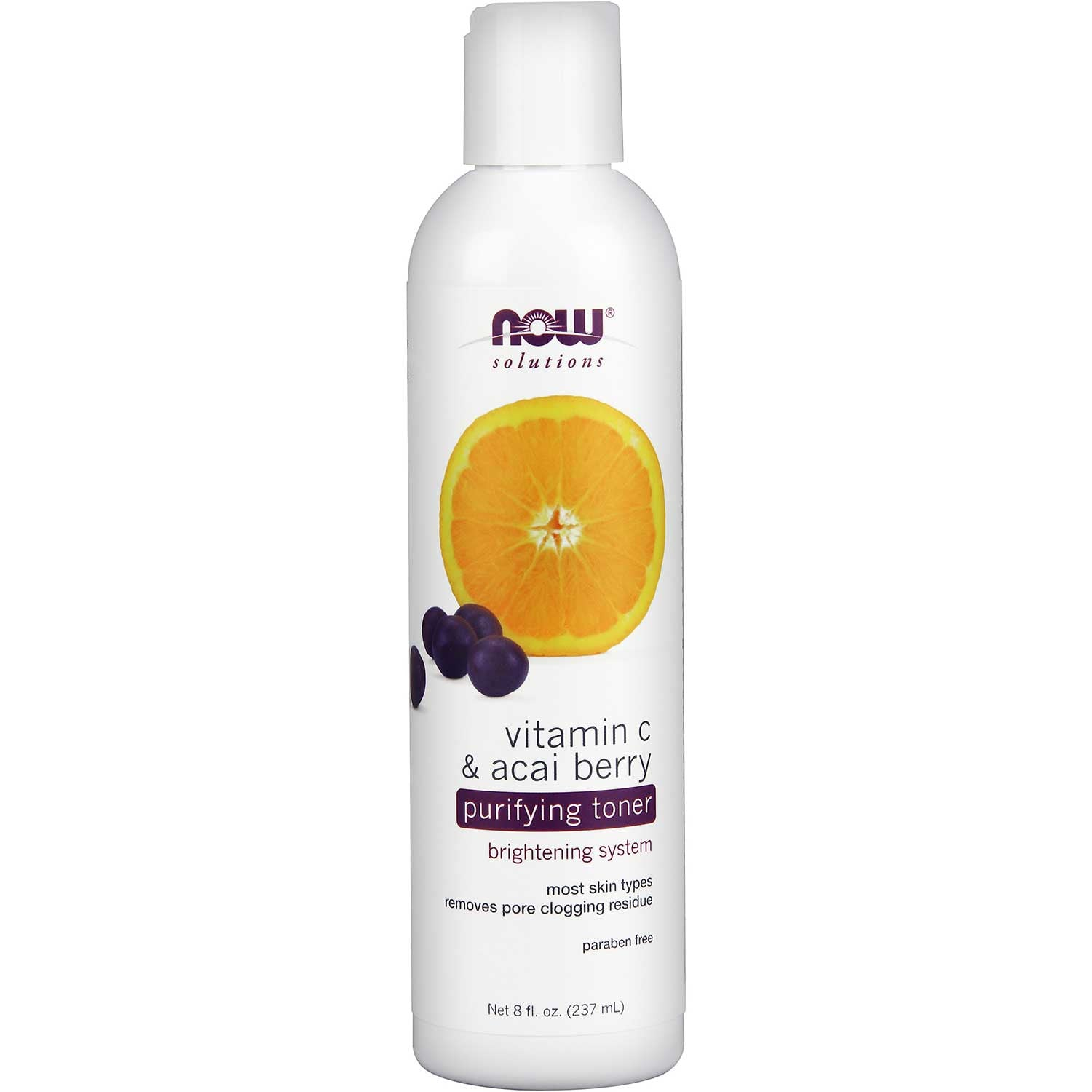 NOW Solutions Vitamin C & Acai Berry Purifying Toner, 237 ml.-NaturesWisdom