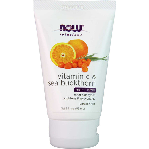 NOW Solutions Vitamin C & Sea Buckthorn Moisturizer, 59 ml.
