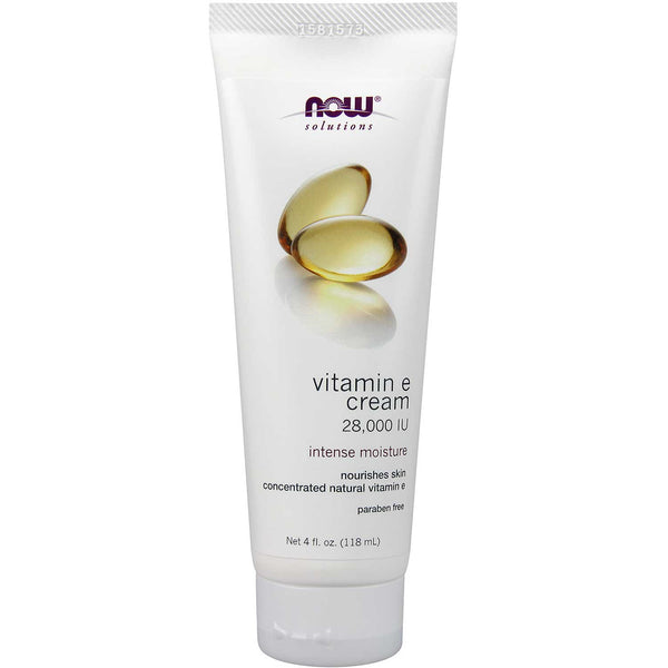 NOW Solutions Vitamin E Cream 28,000 IU, 118 g.