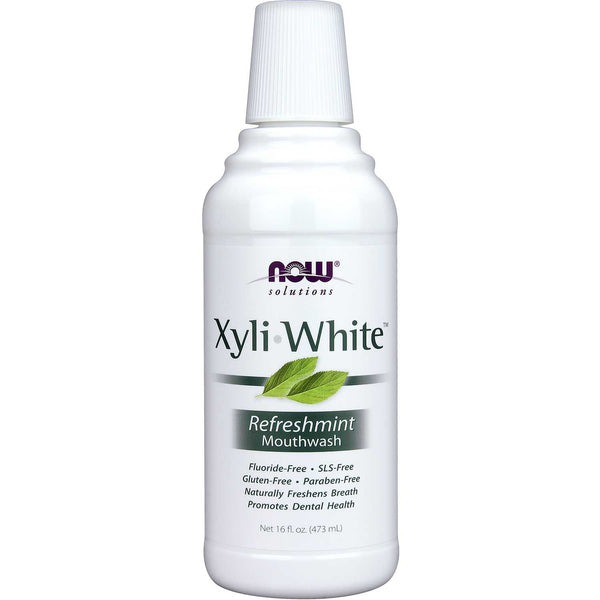 NOW Solutions XyliWhite Mouthwash - Refreshmint, 473 ml.