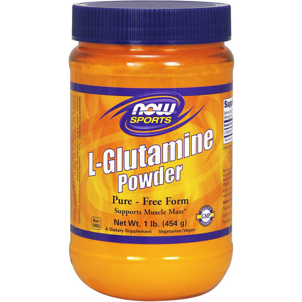 NOW Sports L-Glutamine Powder, 454 g.