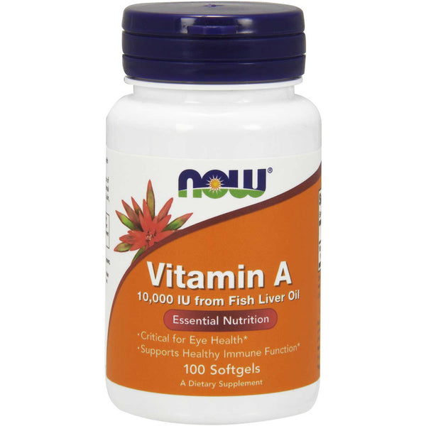 NOW Vitamin A 10,000 IU, 100 sgls.