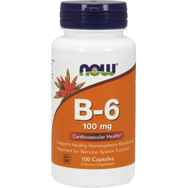 NOW Vitamin B-6 100 mg, 100 caps.