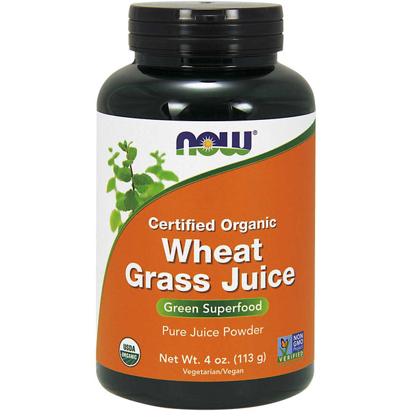 NOW Wheat Grass Juice Powder (Organic), 113 g.